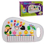 Piano Teclado Brinquedo Infantil Sons Animais Fazenda Sitio