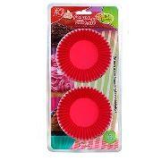 Forma De Silicone Cupcake Muffins 2 Un Rosa Fk2180 Oferta