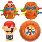 Barril Pula Pirata Brinquedo Educativo Jogo Infantil Grande