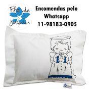 Travesseiro Personalizado Anjo Azul Tamanho P 20 cm x 30 cm