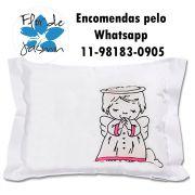 Travesseiro Personalizado Anjo Rosa Tamanho P 20 cm x 30 cm