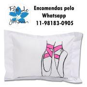 Travesseiro Personalizado Ballet Tamanho P 20 cm x 30 cm