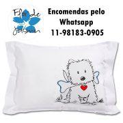 Travesseiro Personalizado Cachorrinho Tamanho P 20cm x 30 cm
