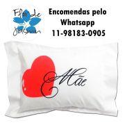 Travesseiro Personalizado Coração De Mãe P 20 cm x 30 cm