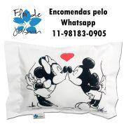 Travesseiro Personalizado Mickey e Minnie P 20 cm x 30 cm