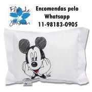 Travesseiro Personalizado Mickey M 30 cm x 40 cm
