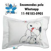 Travesseiro Personalizado Snoopy Coração M 30 cm x 40 cm