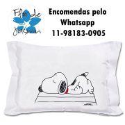 Travesseiro Personalizado Snoopy Dormindo M 30 cm x 40 cm