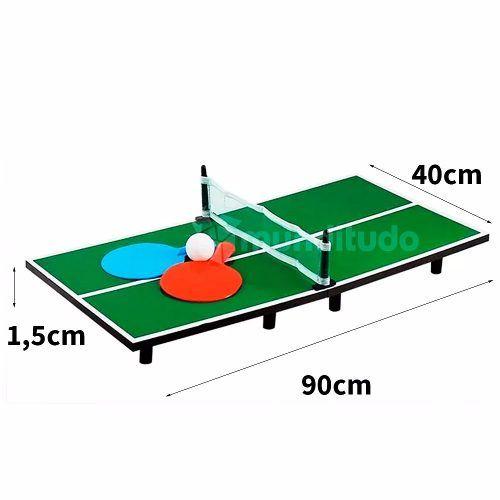 Mini Jogo Mesa Ping Pong Tenis De Mesa Bola Raquete E Rede