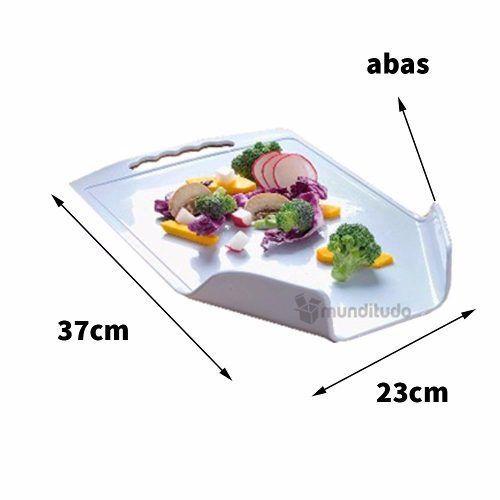 Tábua De Corte Com Abas Pratic Cook 37x 23cm Oferta Barato R$ 8,99Remover