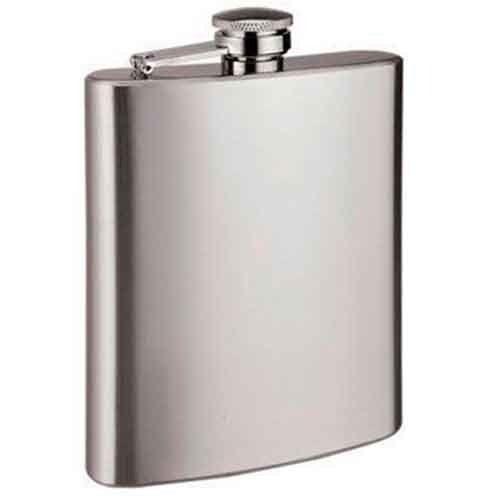 Cantil Porta Whisky Vodka Rum De Inox 240ml Bebida De Bolso