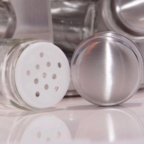 Porta Tempero E Condimento Giratório Em Aço Inox 16 Potes