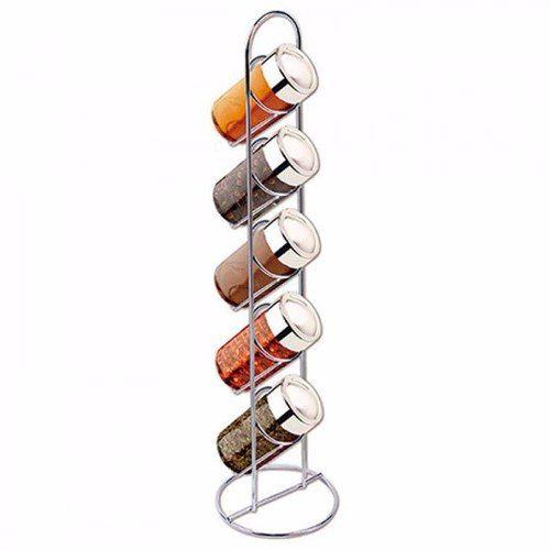 Porta Temperos E Condimentos Suporte Vertical 10 Potes Vidro