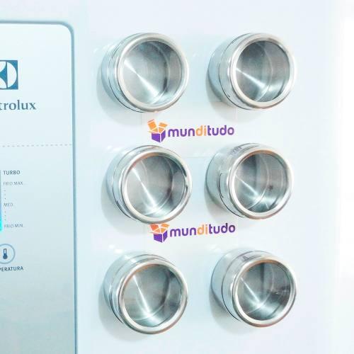 Porta Condimentos E Temperos De Aço Inox Magnético 12 Potes
