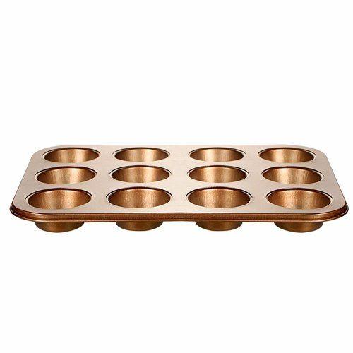 Forma Para Cupcake 12 Cavidades Antiaderente Bronze Oferta
