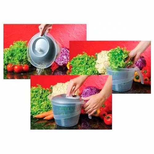 Secador De Saladas Verduras Centrifuga Manual 2.8l 4137