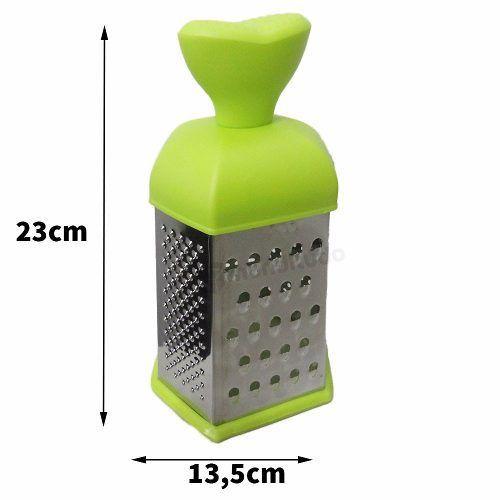 Ralador De Aço Inox 6 Faces Colorido Verde Oferta
