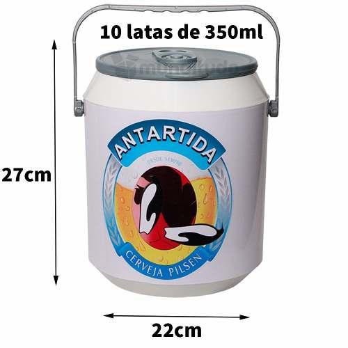 Cooler Térmico 10 Latas De Cerveja Pinguins Antardida Oferta