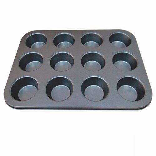 Forma Para Cupcake 12 Cavidades Antiaderente Teflon Oferta