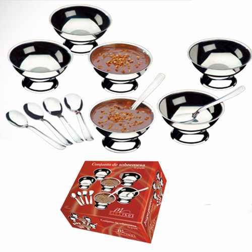 Conjunto De Sobremesa Com Colheres De Aço Inox 12 Peças 7016