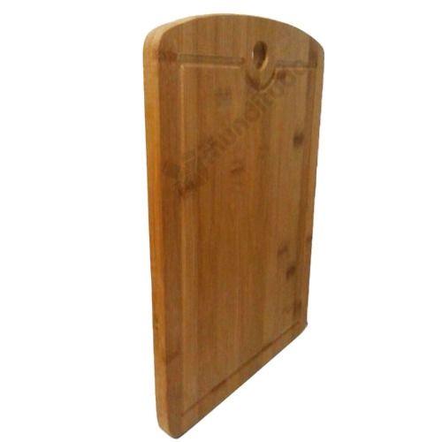 Kit Para Churrasco Com Tábua De Bambu E Faca De Açogueiro