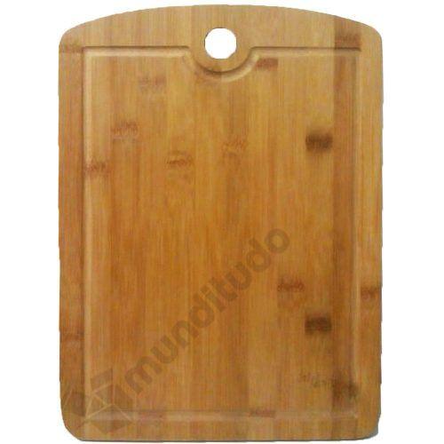 Kit Churrasco Tábua Bambu Com Faca De Corte E Desossar 3 Pcs