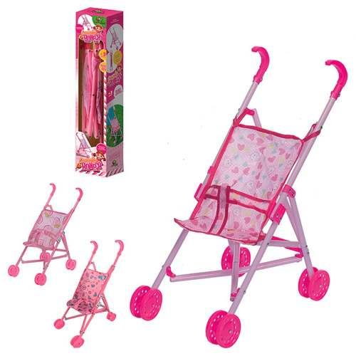 Carrinho De Boneca Dobrável Na Caixa Brinquedo Para Criança
