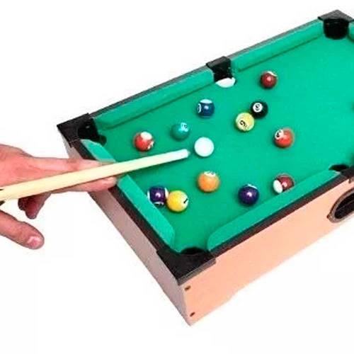 Mini Mesa De Sinuca Bilhar Snooker Portátil De Madeira