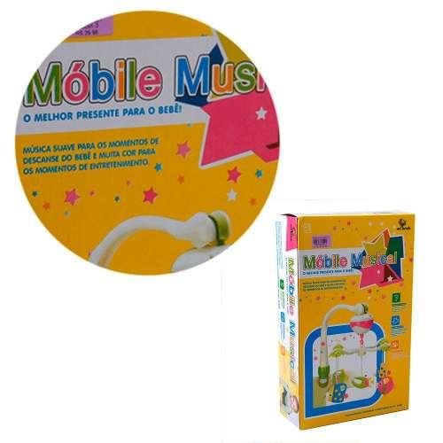 Brinquedo Berço Carrinho De Bebê Móbile Musical Peixinho