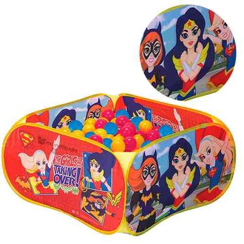 Piscina De Bolinhas Mulher Maravilha Super Girl Batgirl