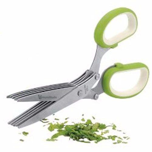 Tesoura Para Salada Temperos E Ervas Finas 10 Lâminas