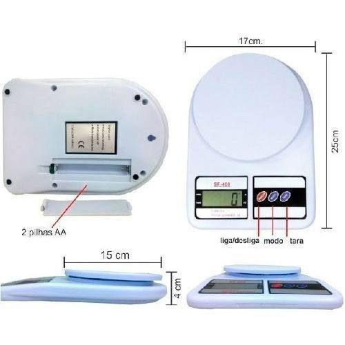 Balança Digital Eletrônica Alta Precisão 10kg