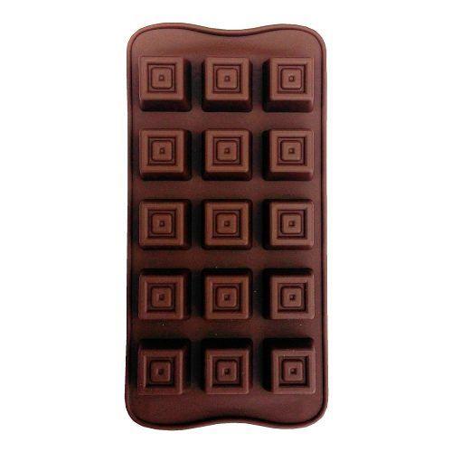 Forma Molde Silicone Bombom Chocolate Quadrado 3 Un Oferta