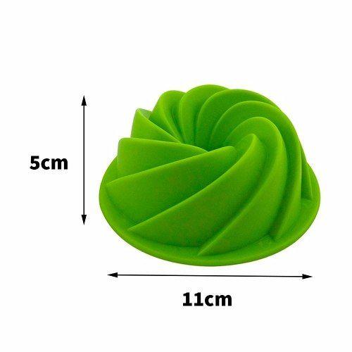 Forma Silicone Flans Pudins Mousses Verde 2 Un Fk2271 Oferta
