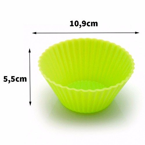 Forma De Silicone Cupcake Muffins 2 Un Amarela Fk2180 Oferta