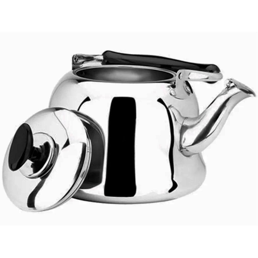 Chaleira De Aço Inoxidável De 1 Litro Com Infusor De Chá
