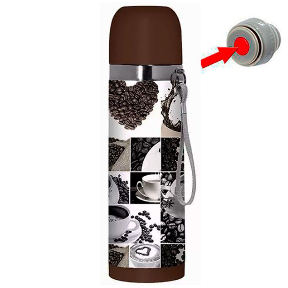 Garrafa Térmica Aço Inox Inquebrável 350ml Café Color