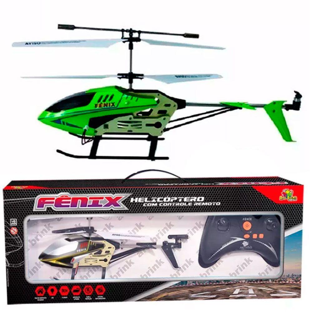 Helicóptero de Controle Remoto Fênix 3 Canais Com Giroscópio
