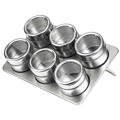 Porta Condimentos E Temperos De Aço Inox Com Imã 36 Potes