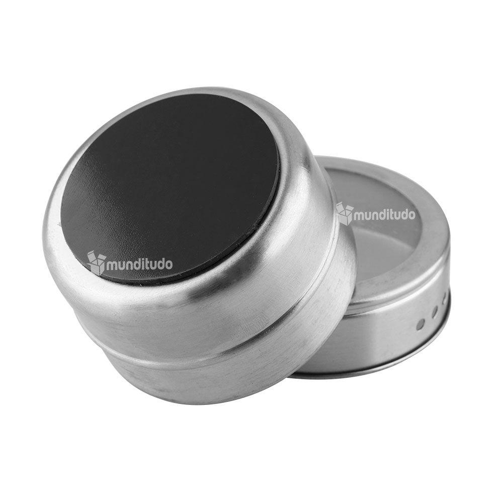 Porta Condimentos E Temperos Magnético Em Aço Inox 30 Potes