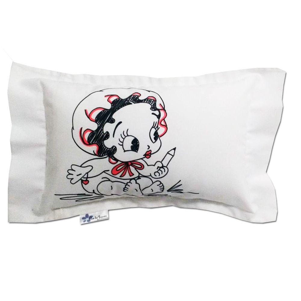 Travesseiro Personalizado Betty Boop Bebê M 30 cm x 40 cm