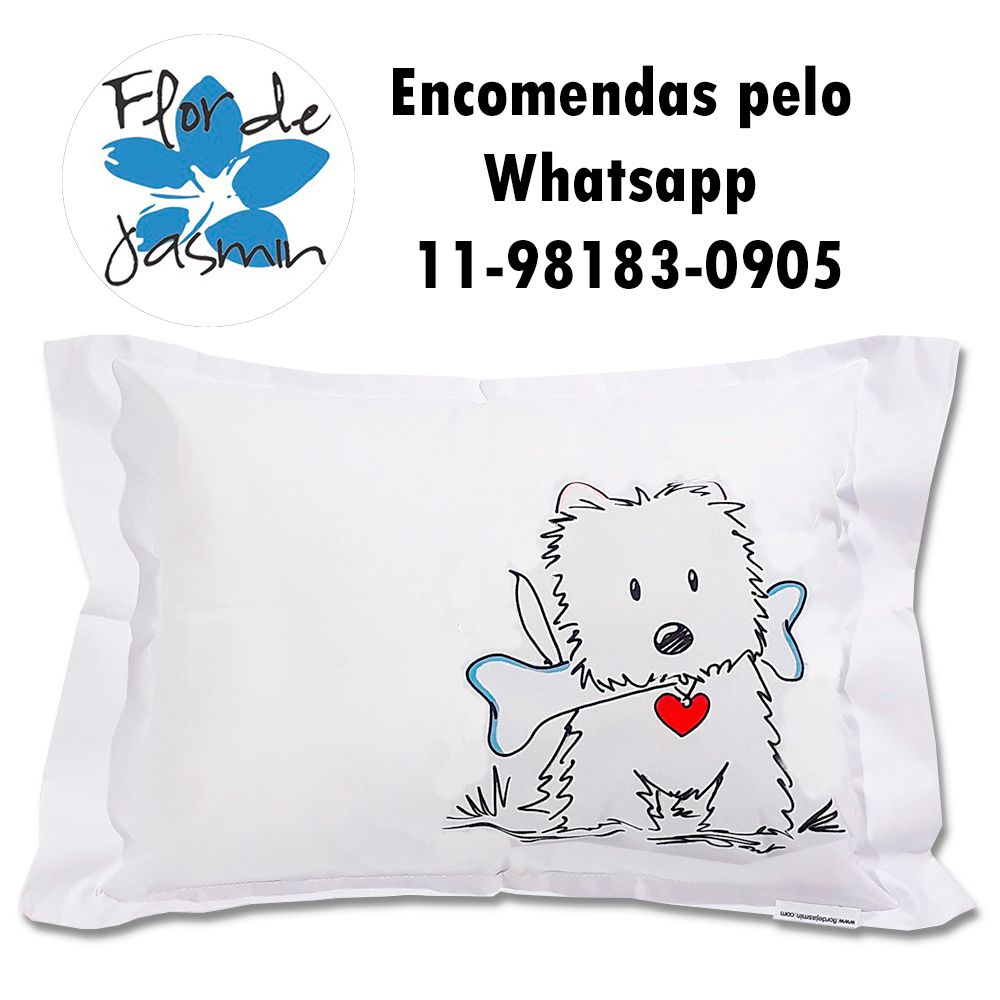 Travesseiro Personalizado Cachorrinho 1 Tamanho M 30cmx40cm