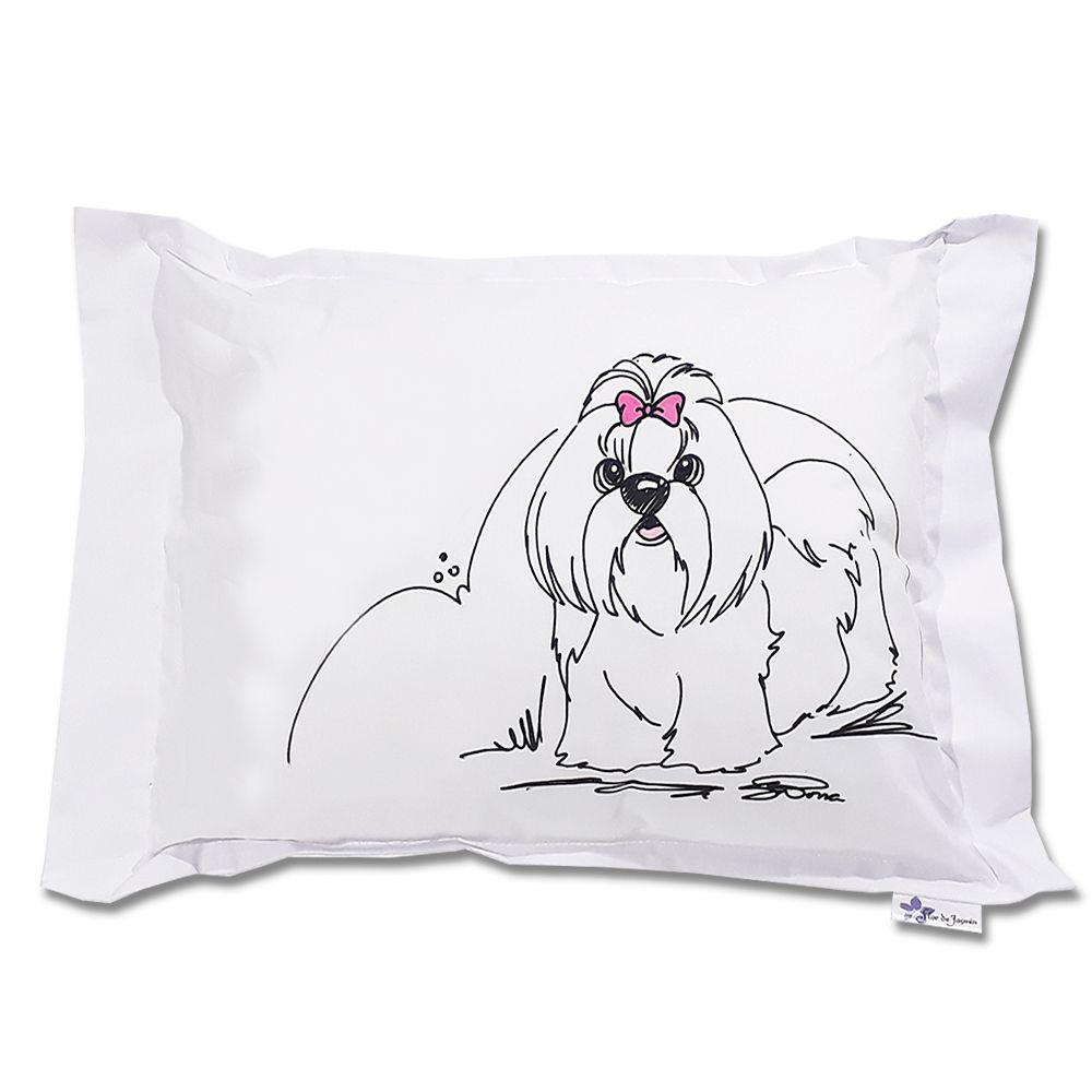Travesseiro Personalizado Cachorrinho 2 Tamanho M 30cmx40cm