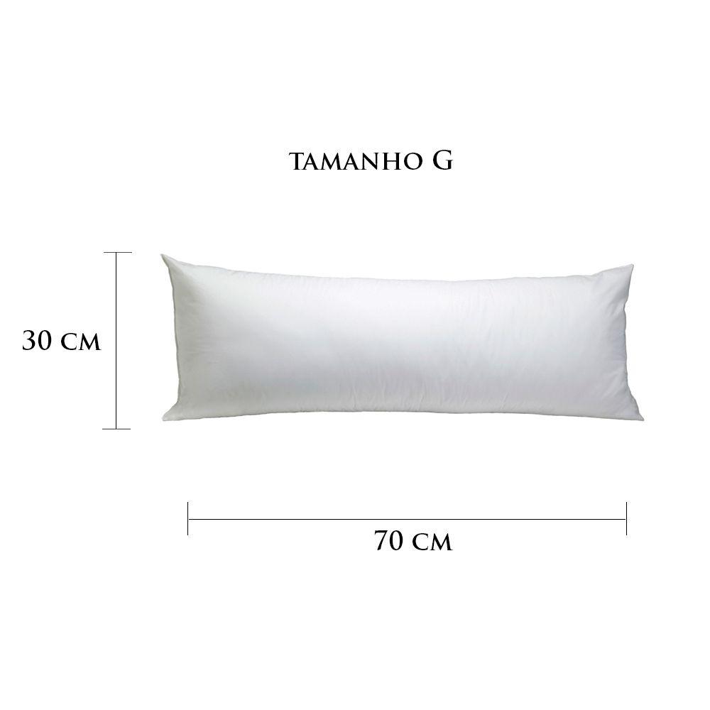 Travesseiro Personalizado Imã Tamanho G 30 cm x 70 cm