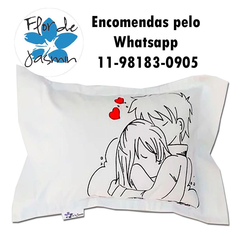 Travesseiro Personalizado Casal Paixão P 20 cm x 30 cm