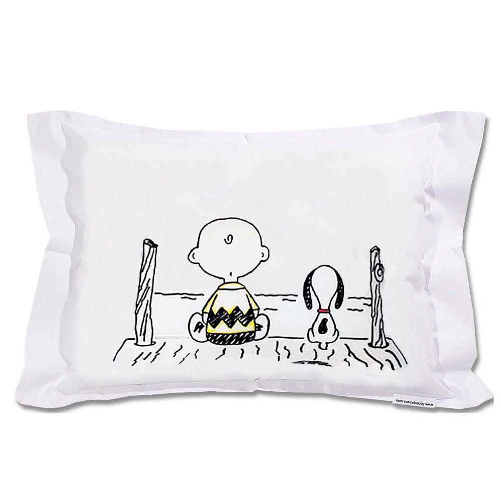 Travesseiro Personalizado Charlie Brown M 30 cm x 40 cm