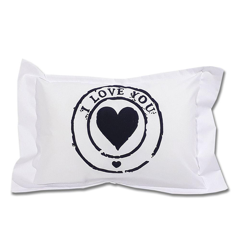 Travesseiro Personalizado Coração I Love You P 20 cm x 30 cm