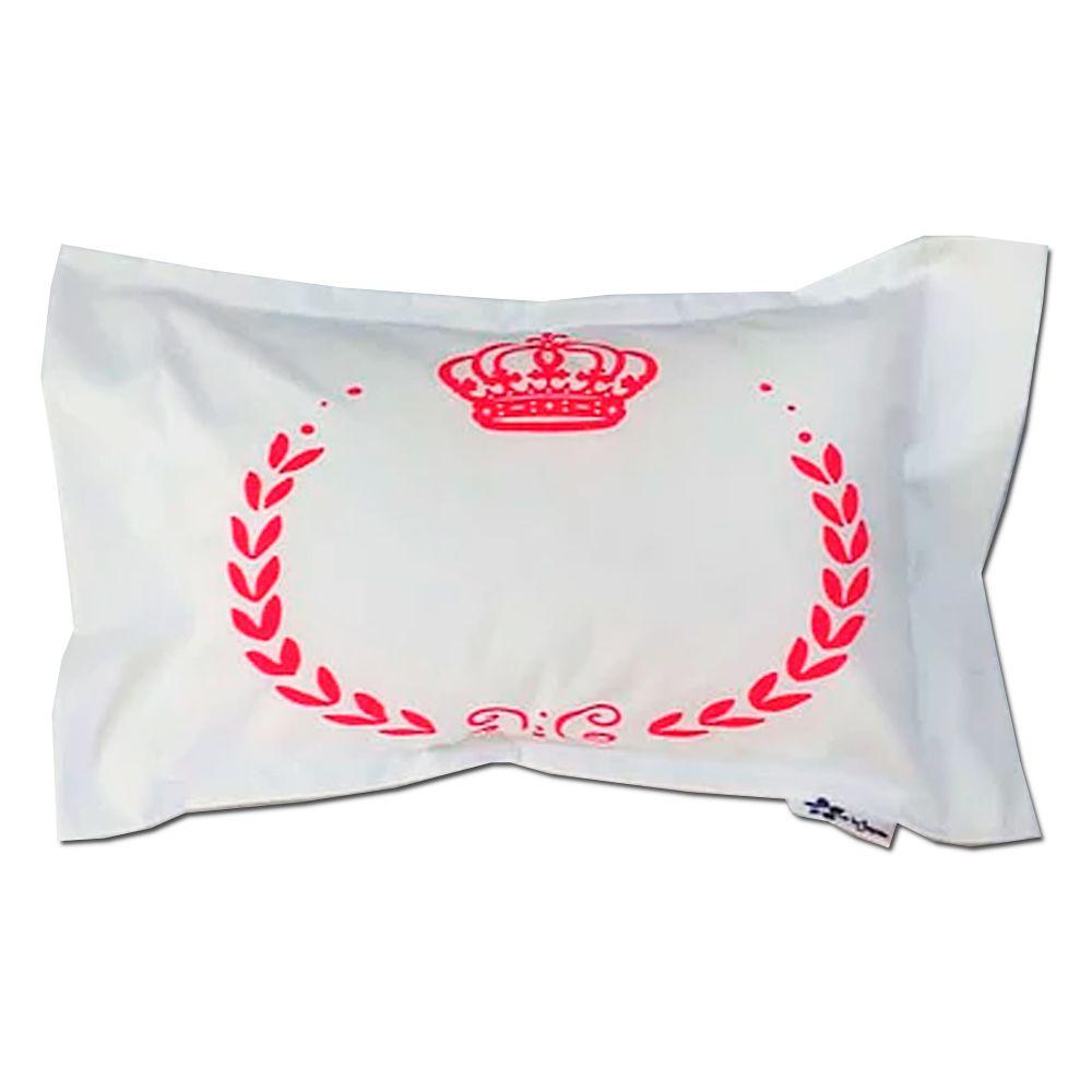 Travesseiro Personalizado Coroa Rosa M 30 cm x 40 cm