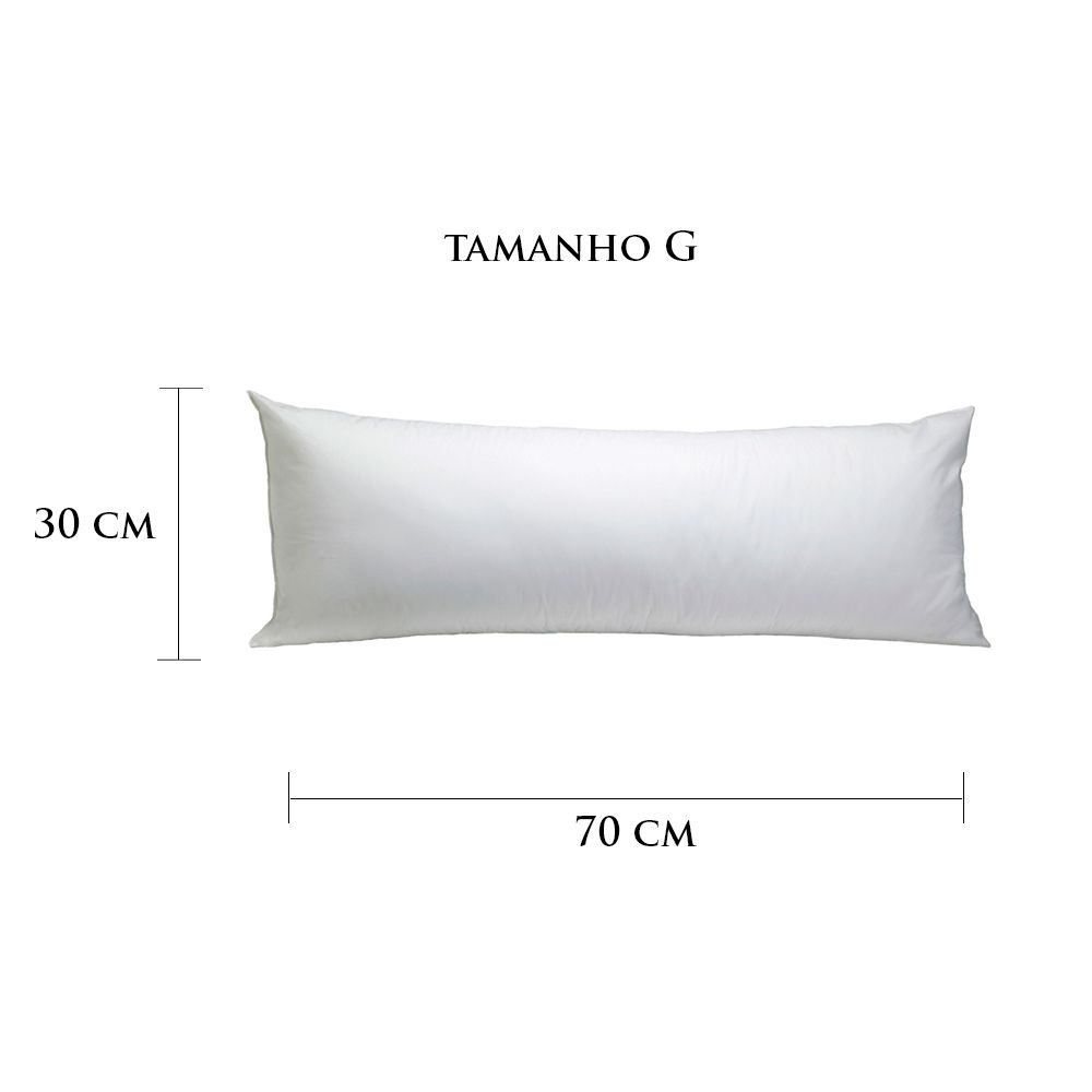 Travesseiro Personalizado Menina Coração G 30 cm x 70 cm