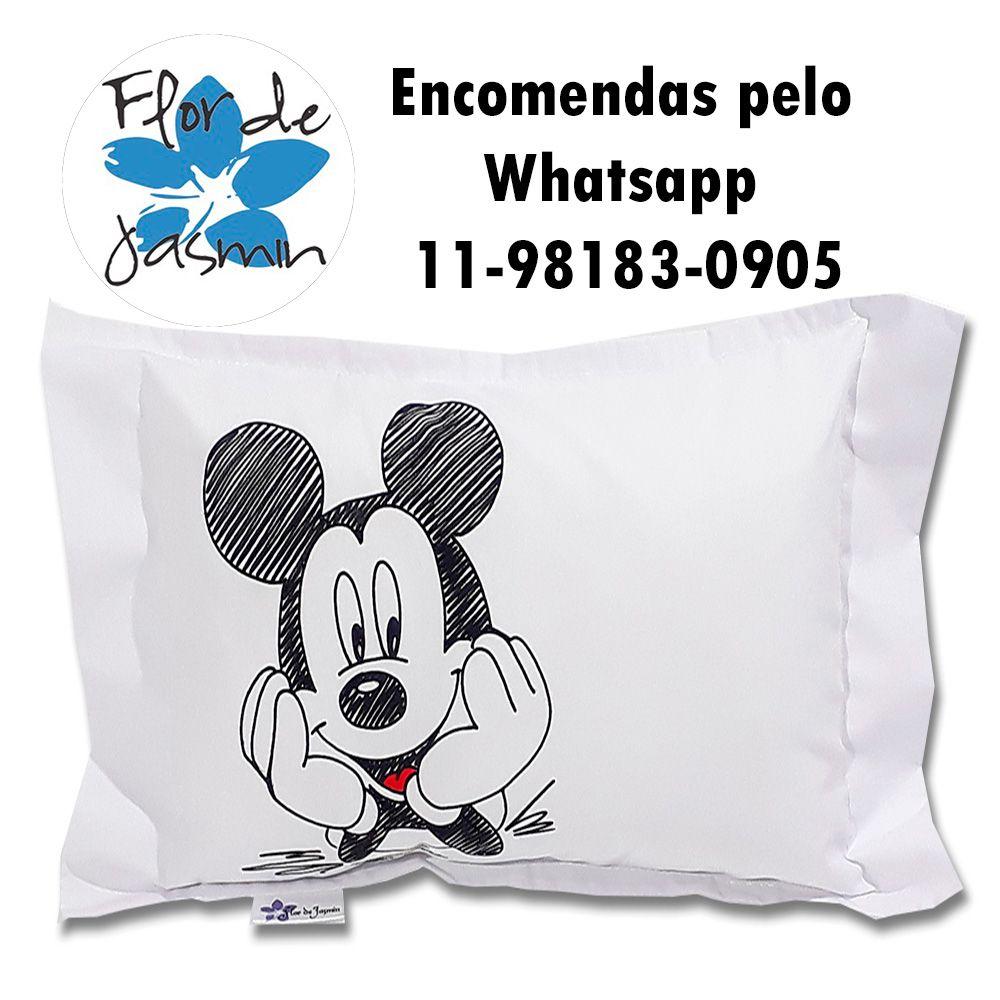 Travesseiro Personalizado Mickey P 20 cm x 30 cm